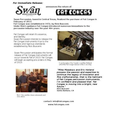Return of the Fat Congas – New Frontiers